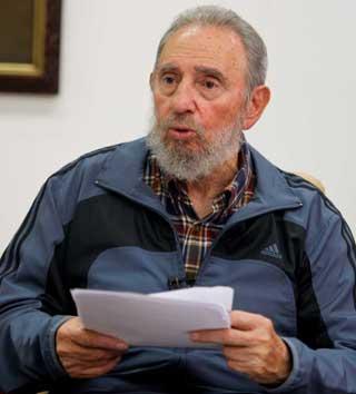 Fidel Castro alerta al mundo sobre el peligro de guerra nuclear